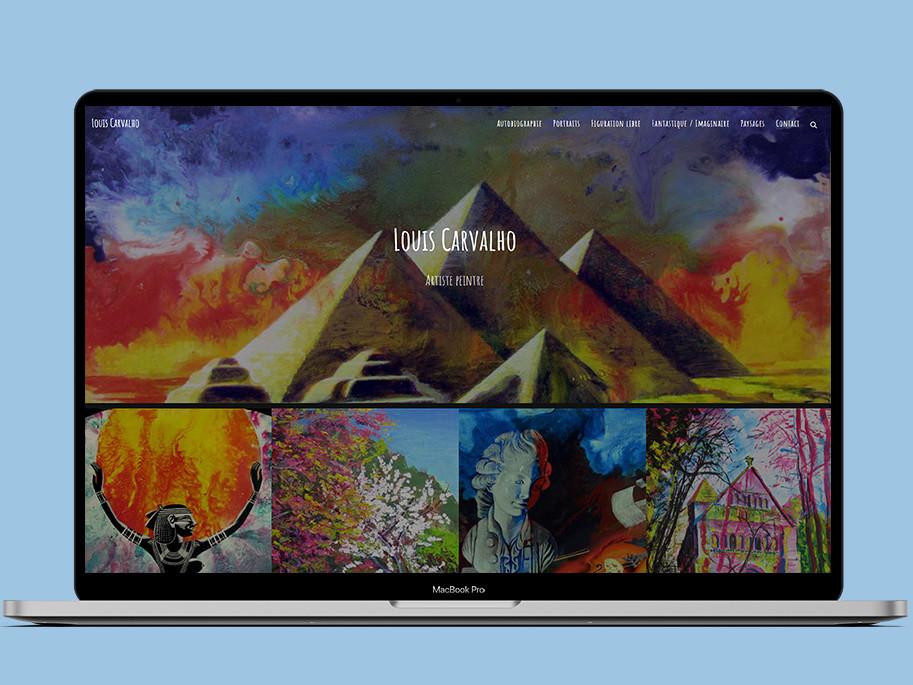 Création du site internet portfolio de Louis Carvalho version ordinateur