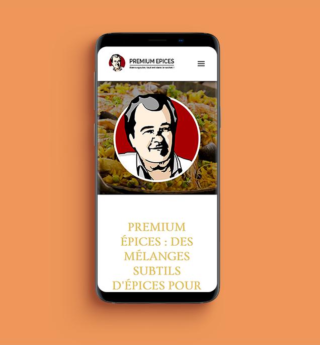 Refonte du site internet e-commerce premium épices responsive mobile