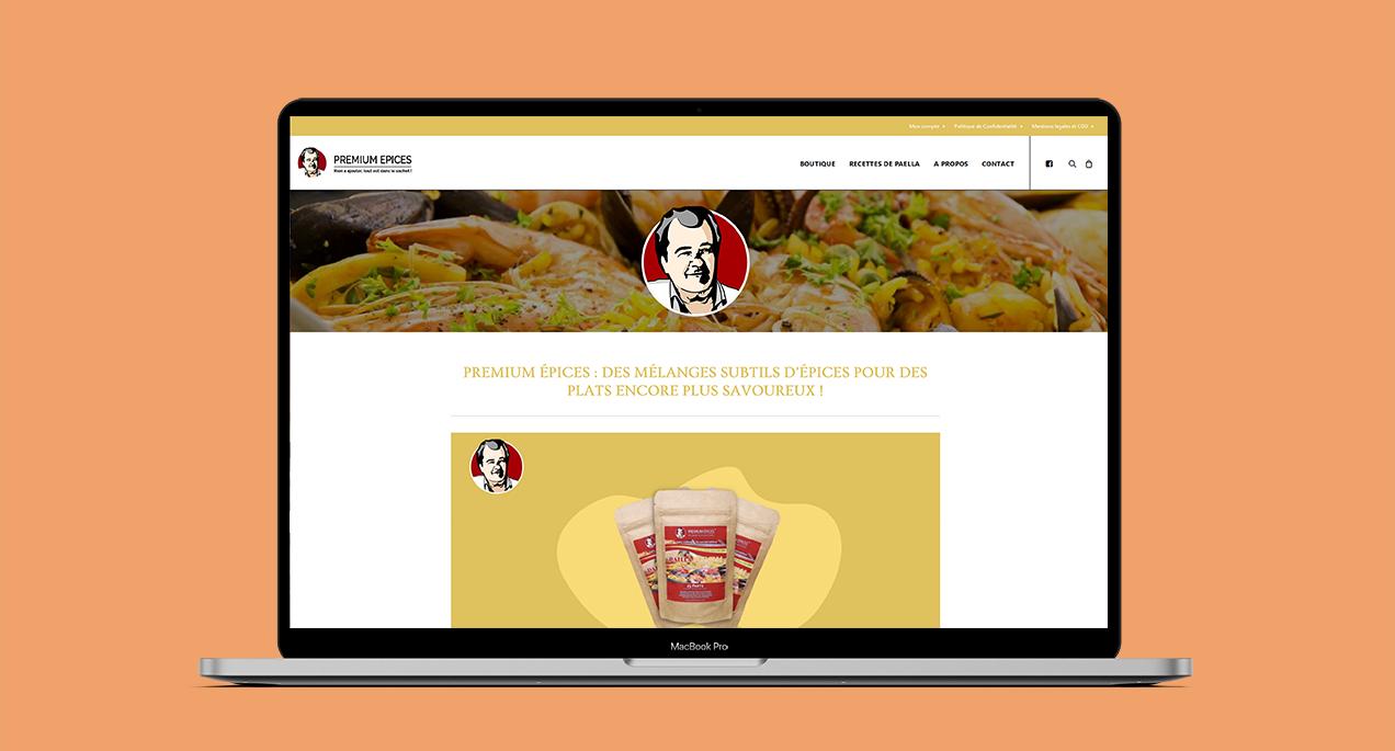 Refonte du site internet e-commerce premium épices