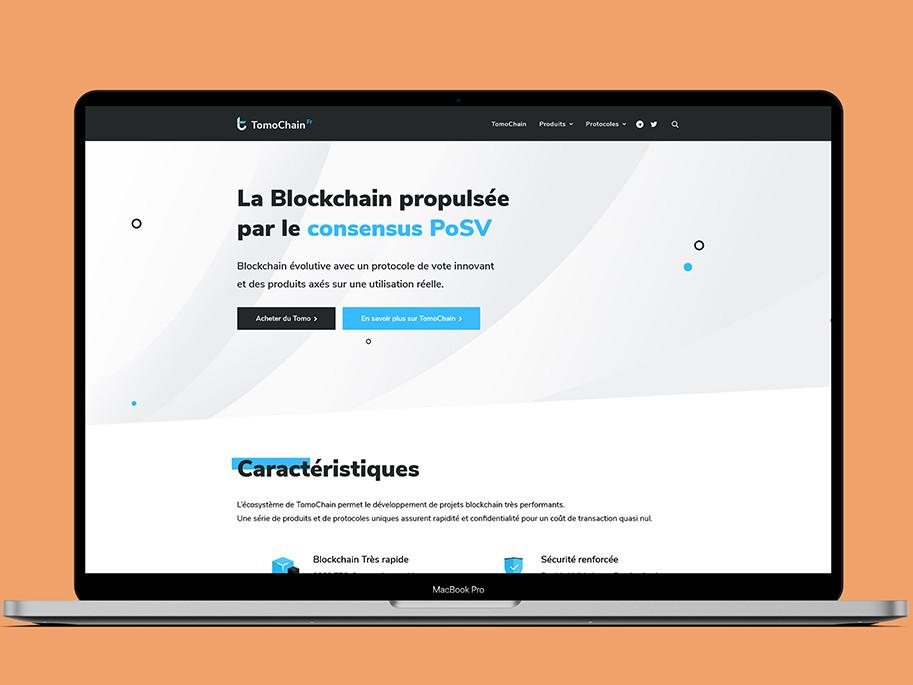 Mockup Site internet TomoChain France