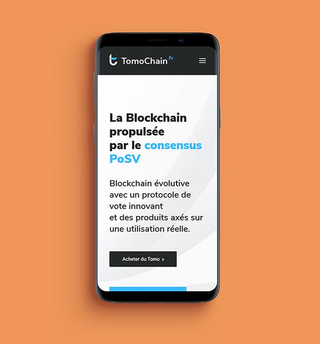 Mockup Site internet TomoChain France version mobile